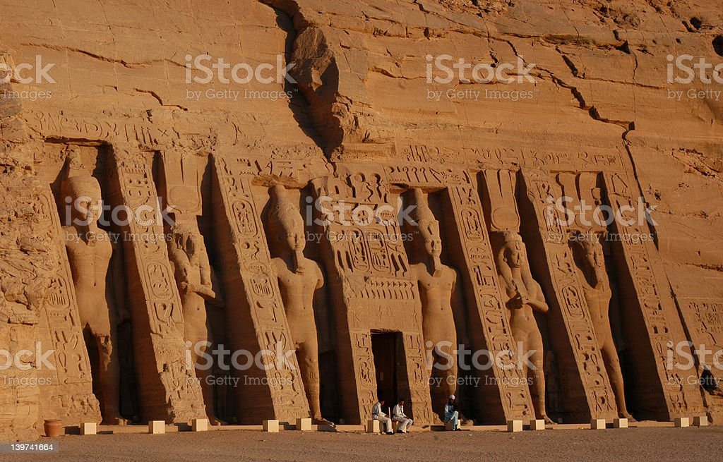 Nefertari Temple royalty-free stock photo