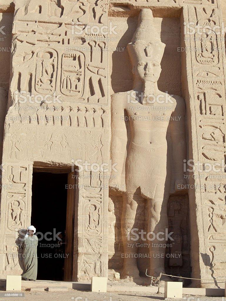 Nefertari's Temple of Hathor royalty-free stock photo