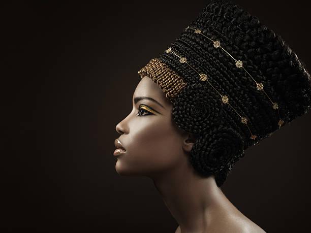 nofretete - ägyptisches make up stock-fotos und bilder