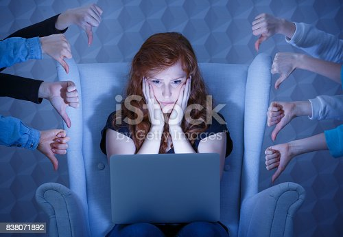 istock Negative comments on website 838071892