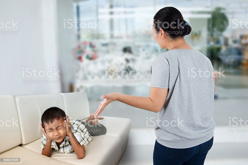 Negative emotion parent stock photo