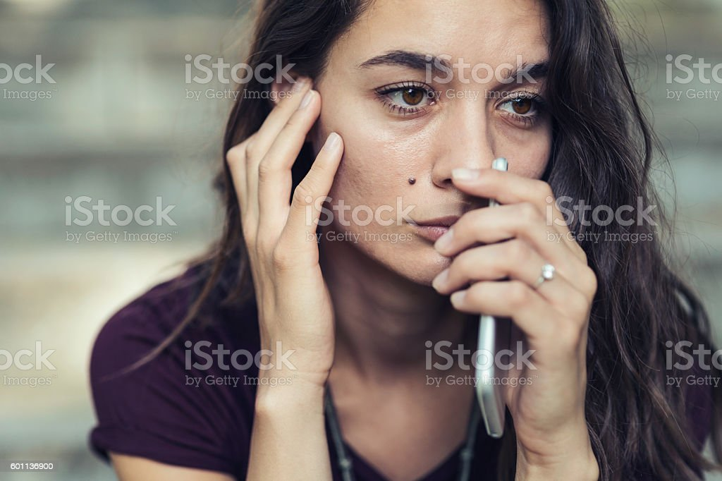 Negative emotion stock photo