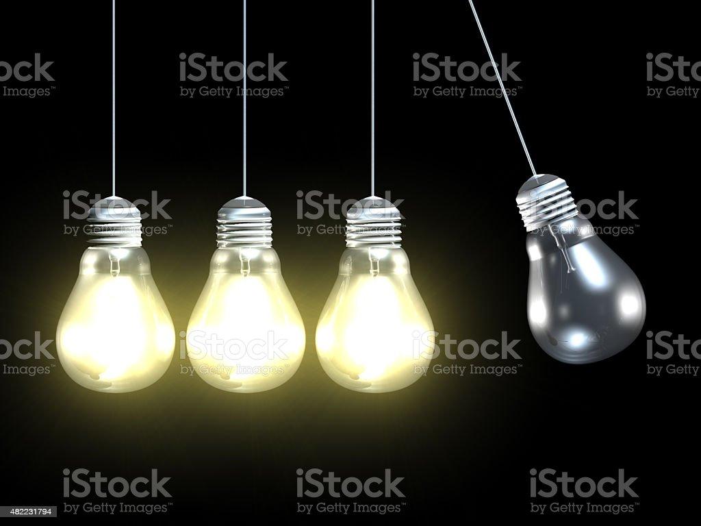 Negative Energy and Businessworld stock photo