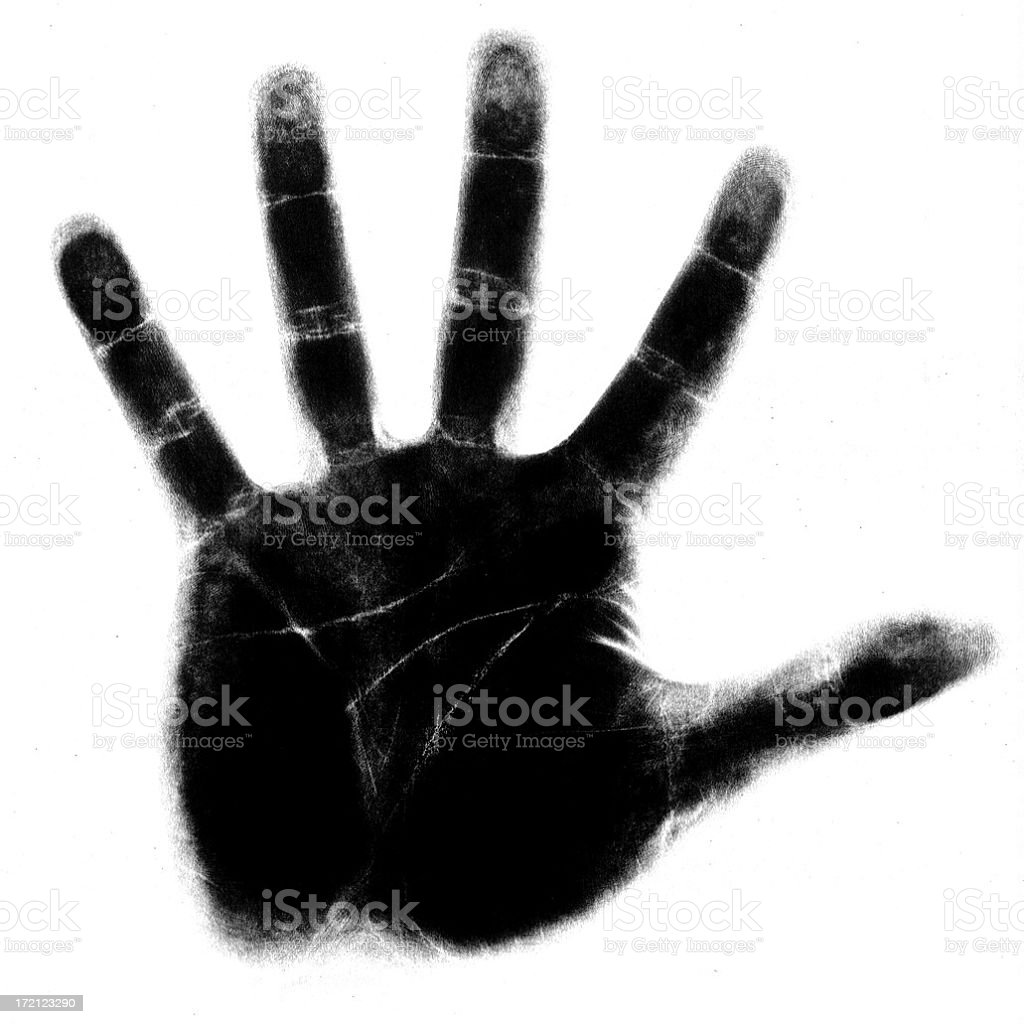 negative hand royalty-free stock photo