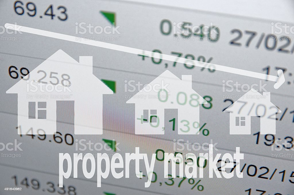 Negative Housing Market Trends stock photo