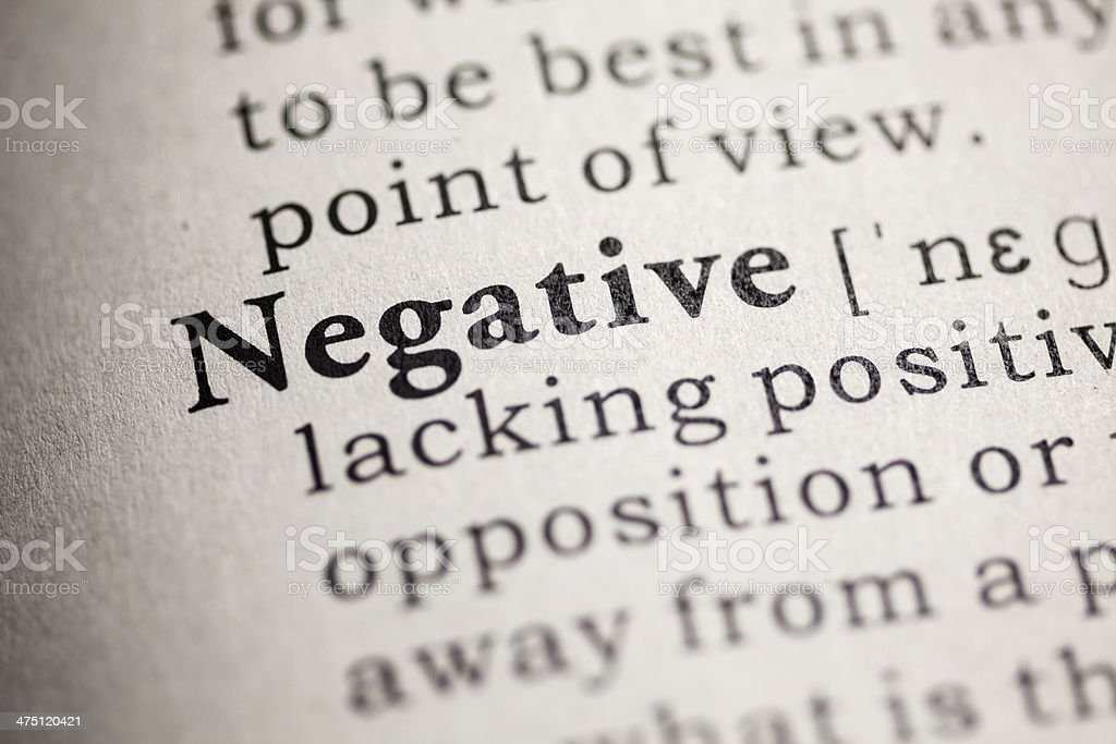 negative royalty-free stock photo