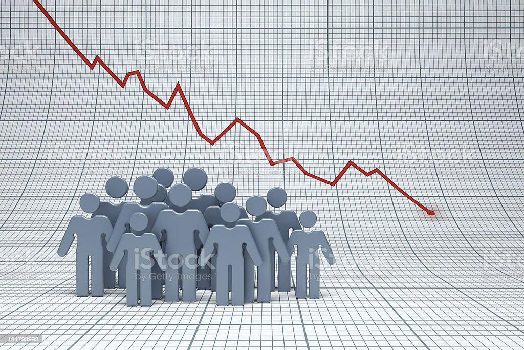 negative trend stock photo