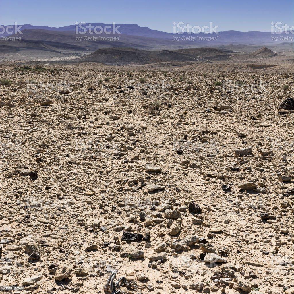 Negev Desert in Israel. stock photo