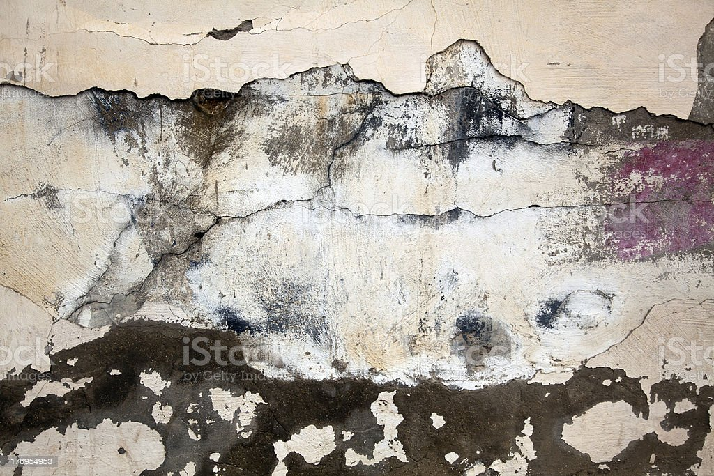 Neglected Wall stock photo