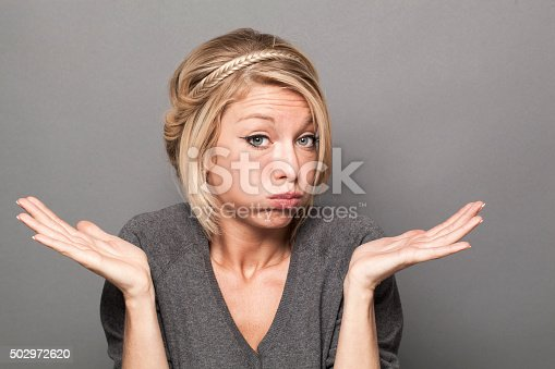 istock negligence concept for bored young blond woman 502972620
