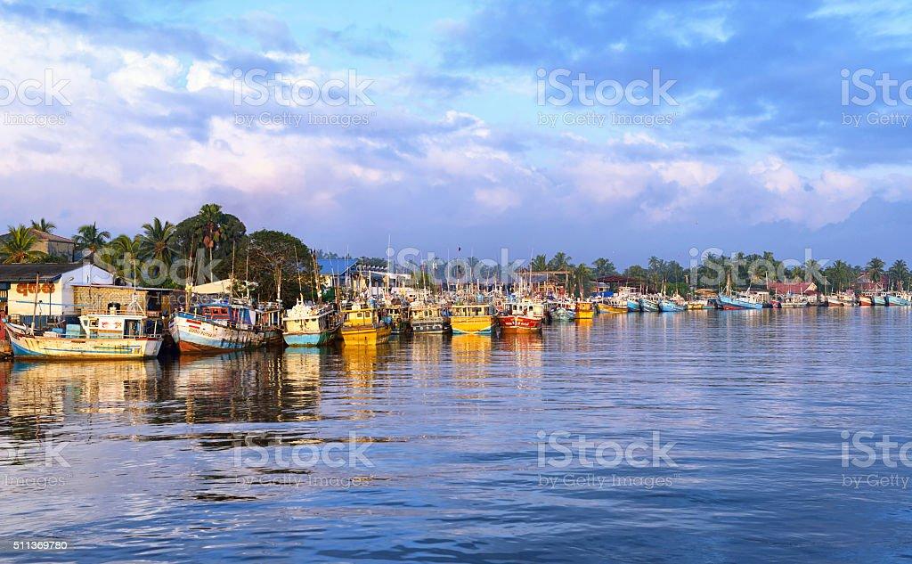 Negombo die Fischer's Wharf, Sri Lanka – Foto