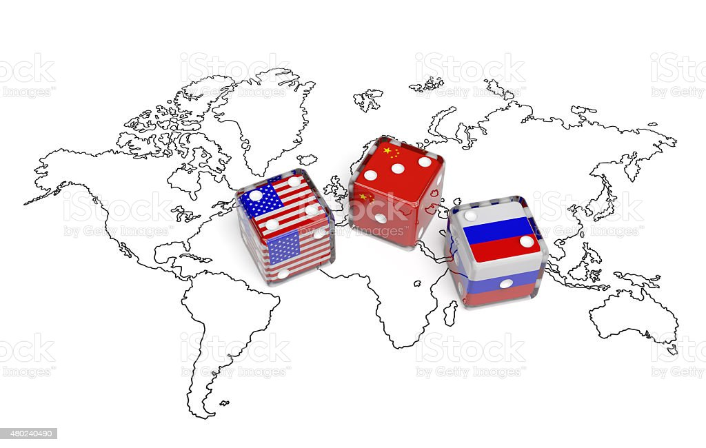 Negotiation between usa china and russia stock photo more pictures map world map china east asia russia usa gumiabroncs Image collections