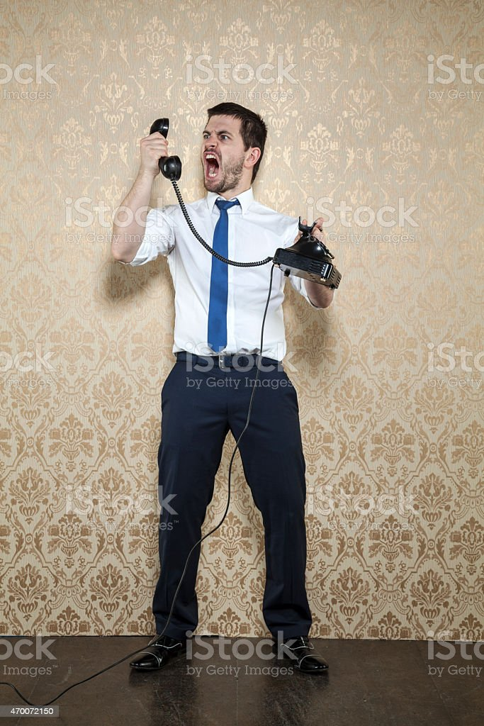 negotiation by phone stock photo