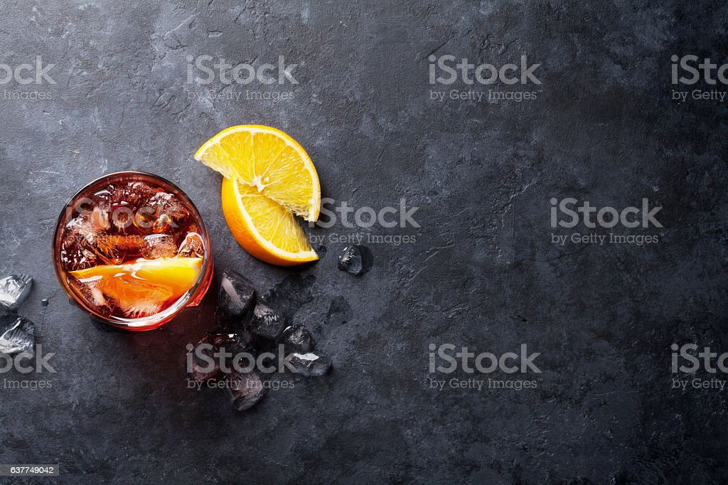 Negroni cocktail stock photo