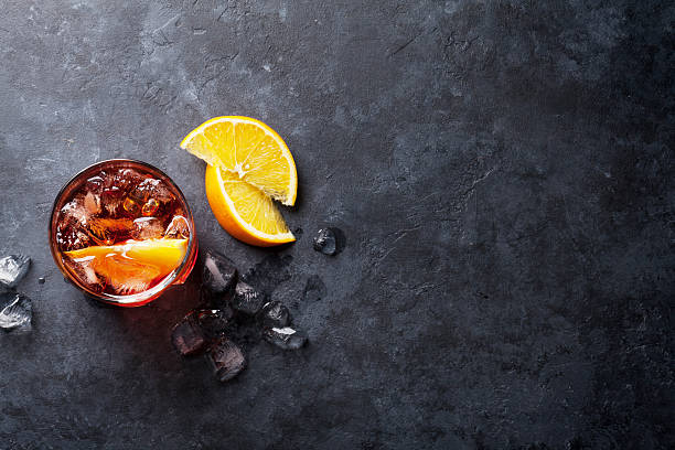 Negroni cocktail - foto stock