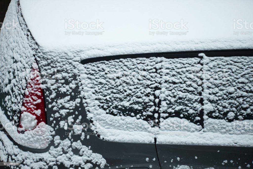 Neige sur la voiture - Royalty-free Car Stock Photo