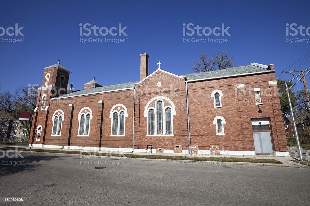 Neighborhhod Church in Englewood, Chicago royalty-free stock photo