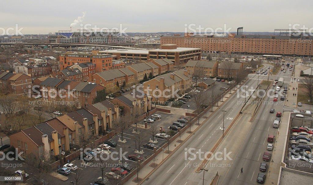 Neighborhood aerial view 4 royalty-free stock photo