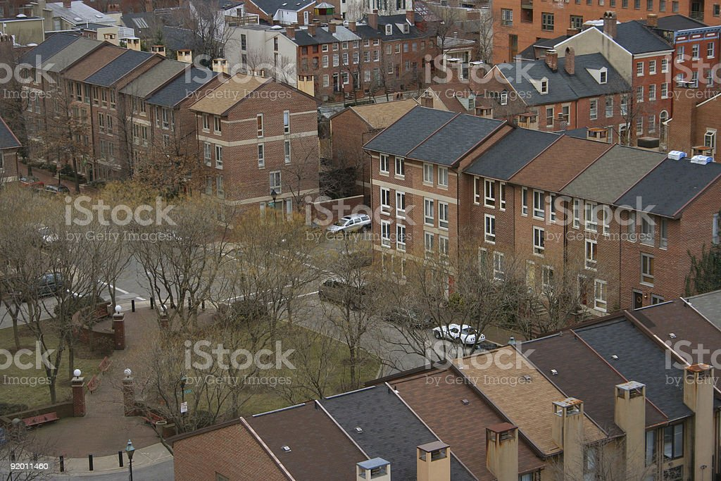 Neighborhood aerial view 5 royalty-free stock photo