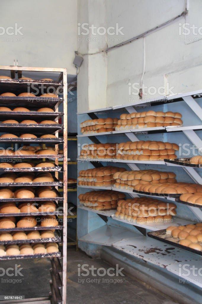 Neighborhood bakery in Havana, Cuba stock photo