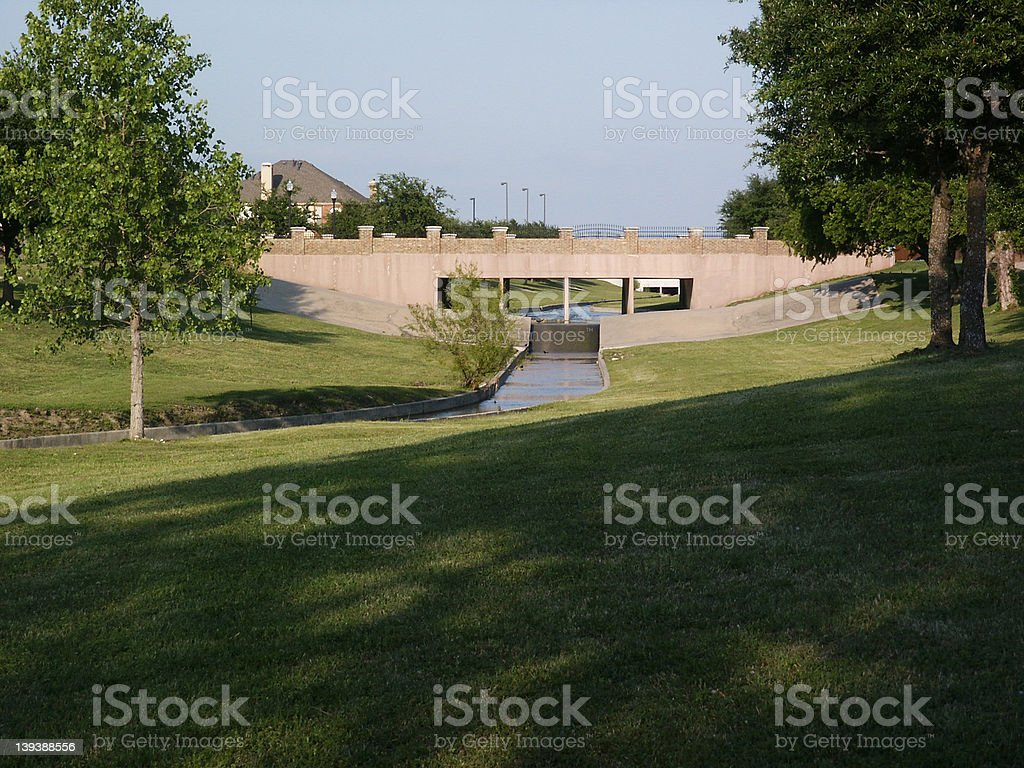 neighborhood bridge royalty-free stock photo