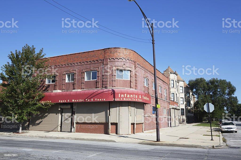 Neighborhood business in Washington Park, Chicago royalty-free stock photo
