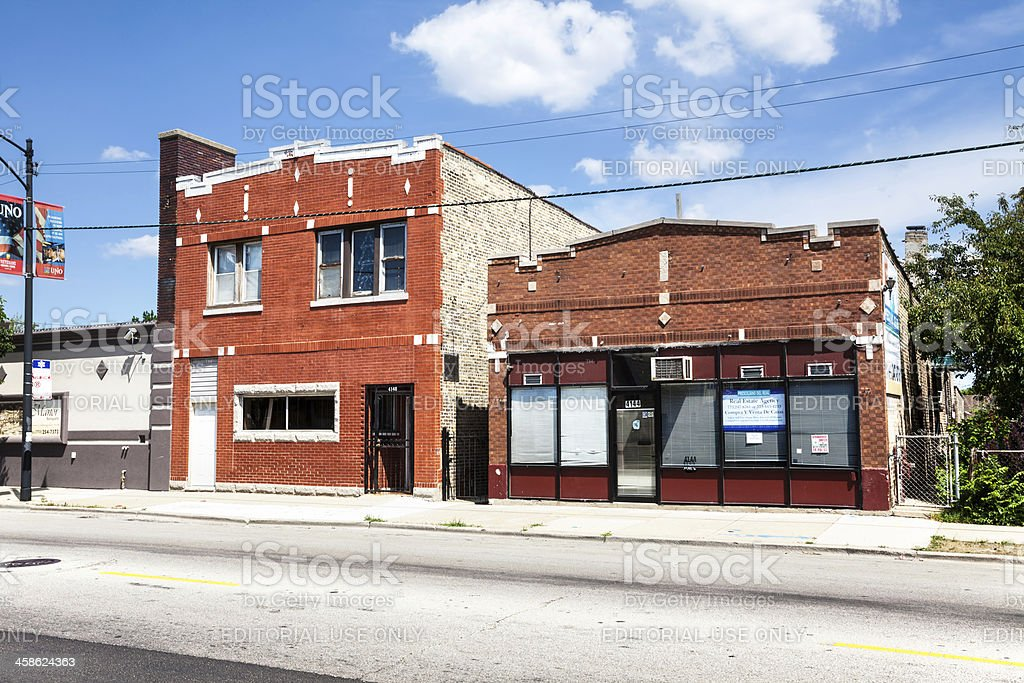 Neighborhood businesses in Archer Heights, Chicago royalty-free stock photo