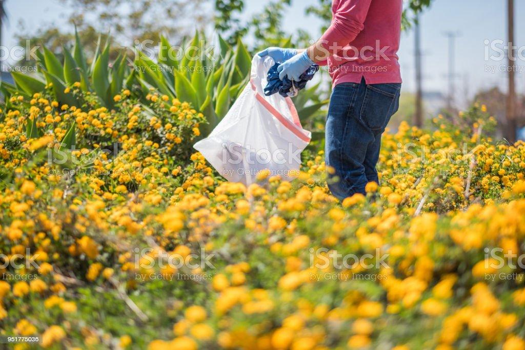 Neighborhood Clean Up stock photo