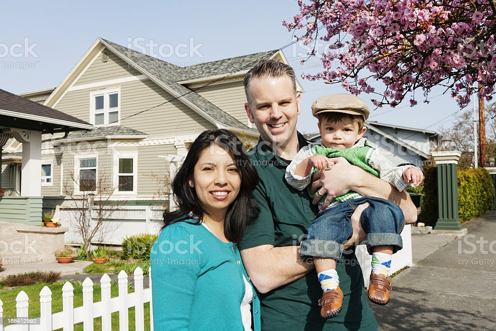 Neighborhood Family Portrait royalty-free stock photo