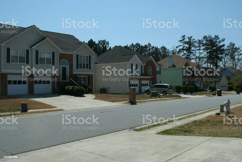 neighborhood in Atlanta GA stock photo