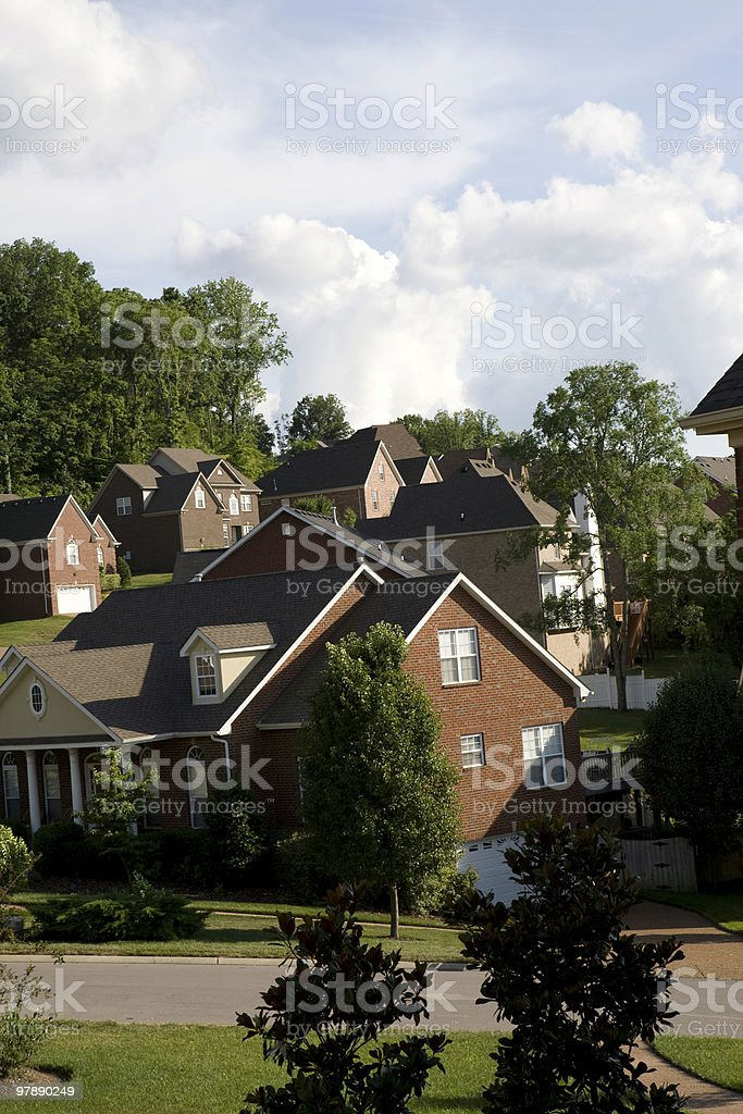 Neighborhood in Nashville, Tennessee royalty-free stock photo