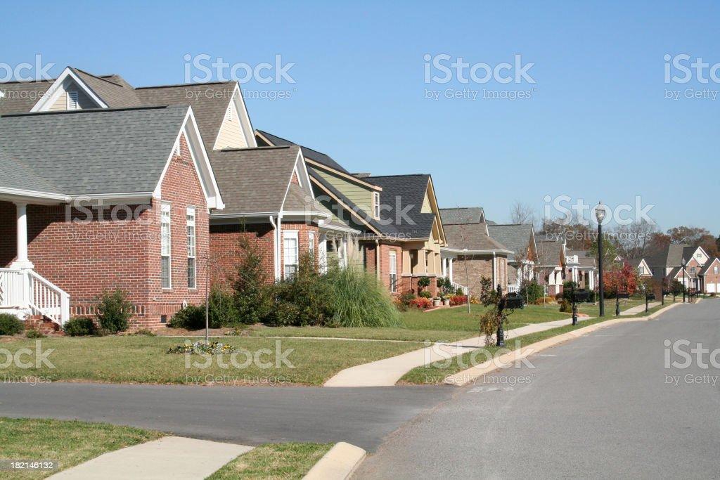 Neighborhood of Homes stock photo