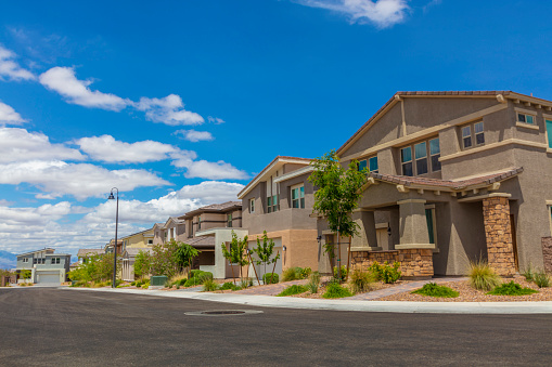 A residential neighborhood in the USA