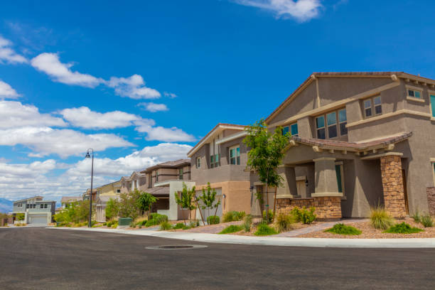 Neighborhood A residential neighborhood in the USA nevada stock pictures, royalty-free photos & images