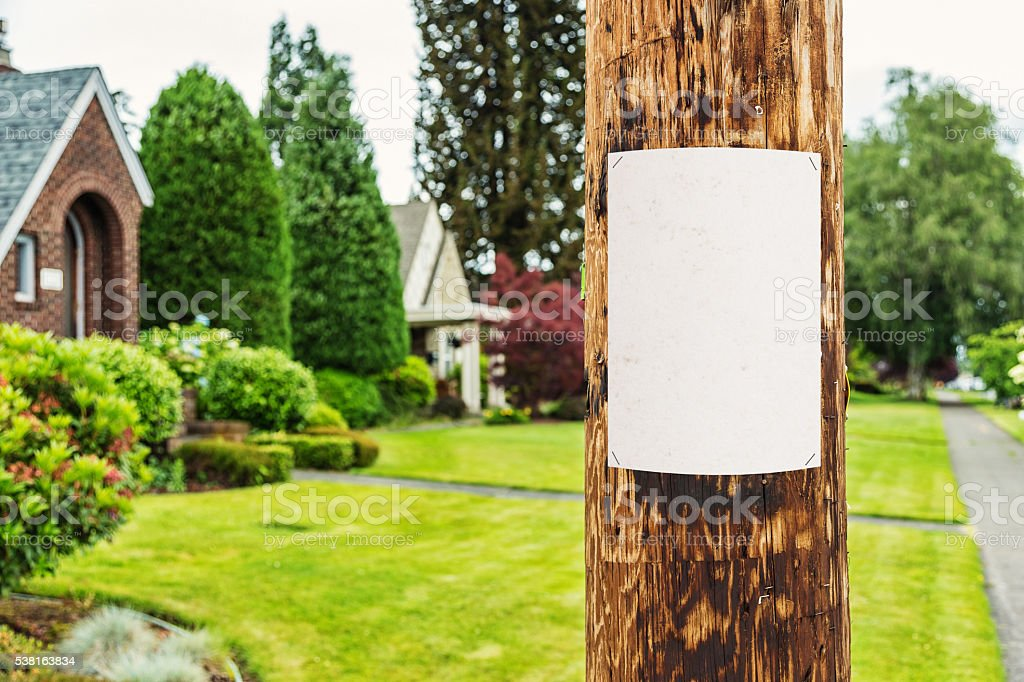 Neighborhood Post stock photo