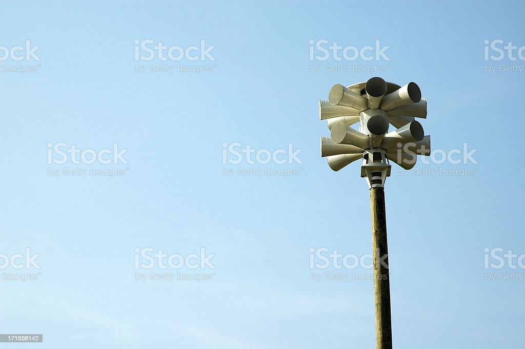 Neighborhood Severe Weather Warning Siren - Clear Blue Sky royalty-free stock photo