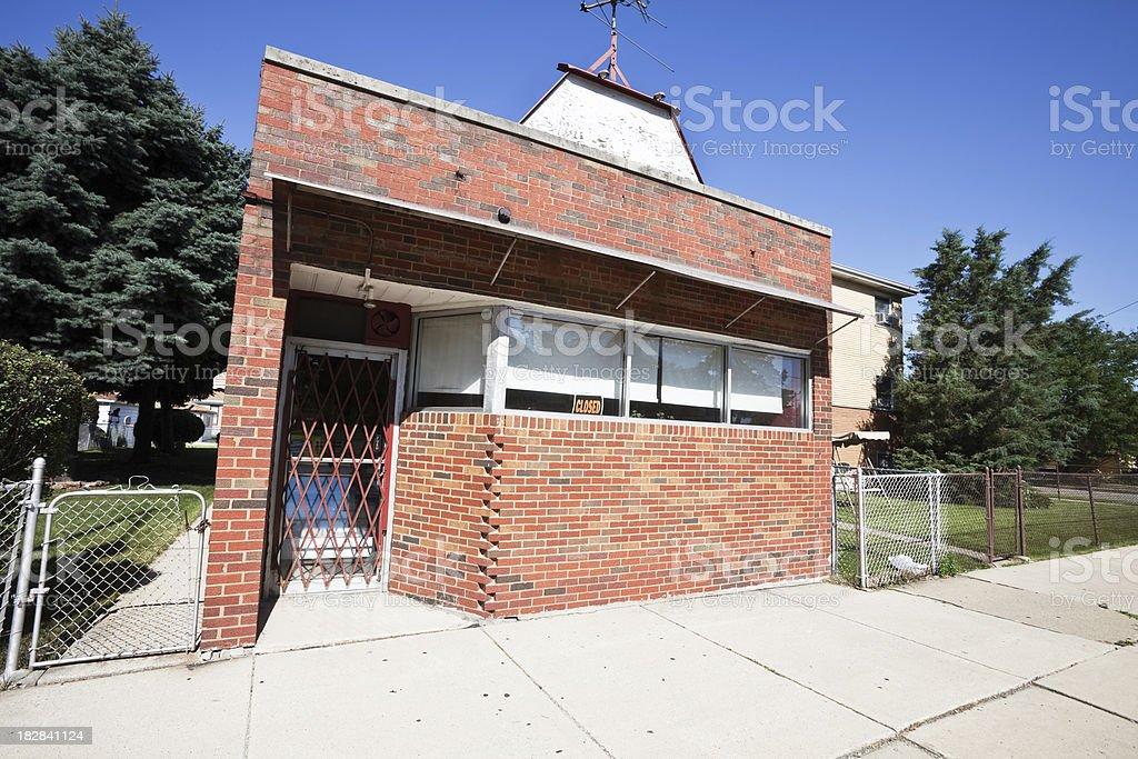 Neighborhood Shop in Garfield Ridge, Chicago royalty-free stock photo