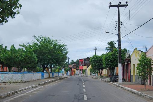 Neighborhood Street in a Small Brazilian Town
