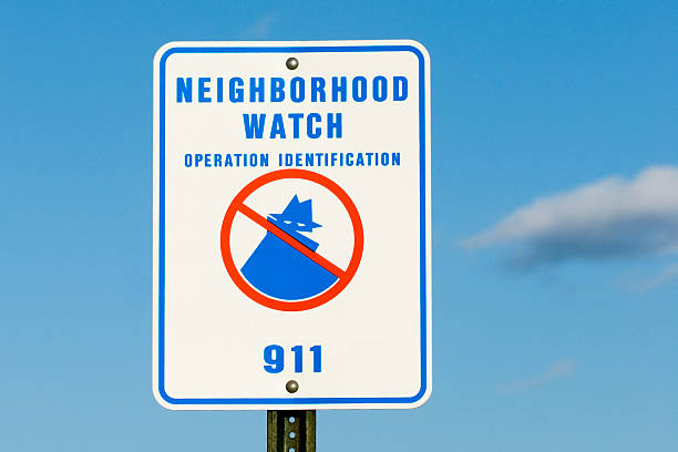 Neighborhood Watch Sign stock photo
