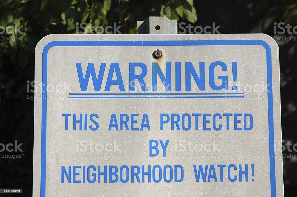 Neighborhood Watchers - Sign royalty-free stock photo