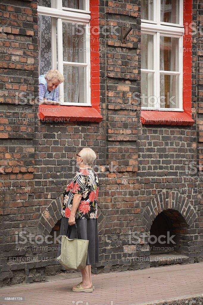 Neighbors royalty-free stock photo