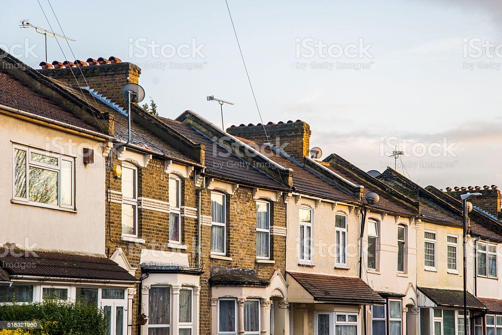 Neighbourhood in London stock photo