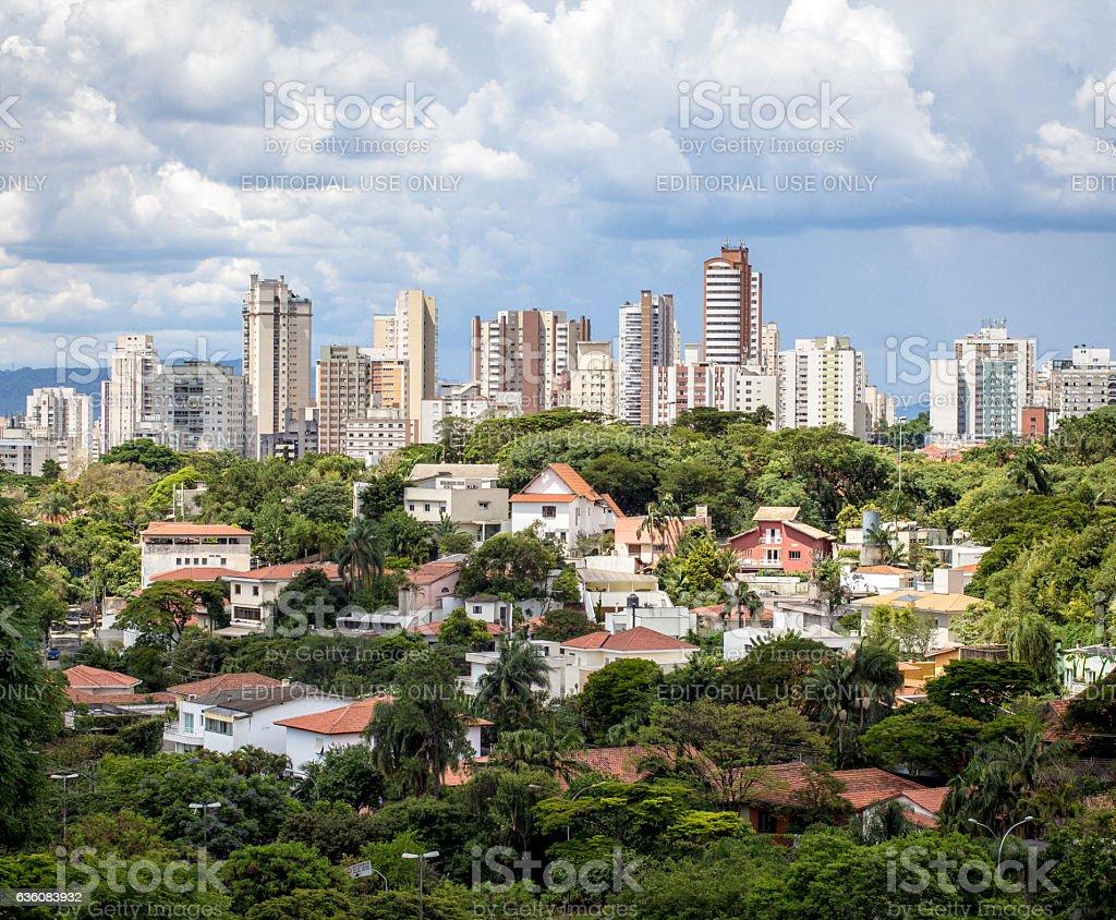 Neighbourhood in São Paulo, Brazil. stock photo