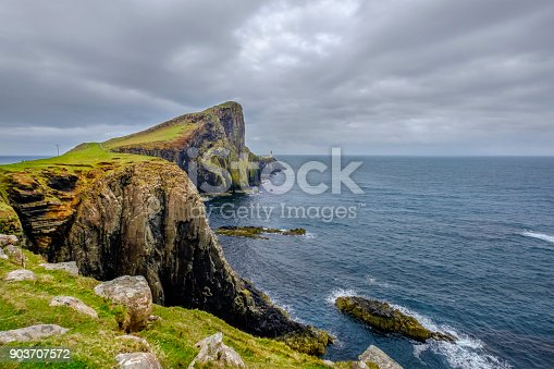 Neist Point is the most westerly headland on the island of Skye and hosts one of the most famous lighthouses in Scotland