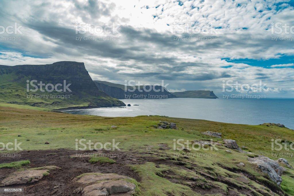 Neist point Lighthouse, Isle of Skye, Scotland stock photo