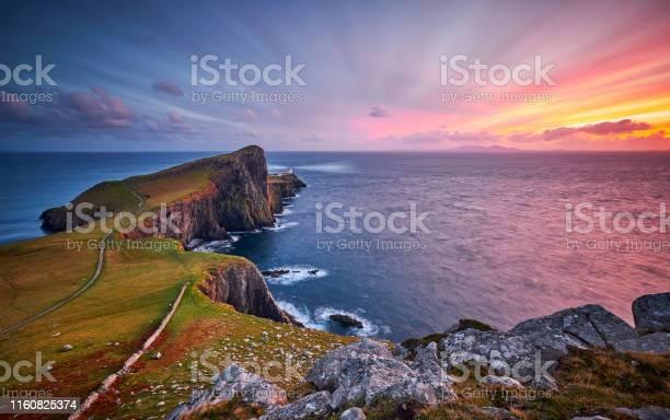 Photo of Neist point lighthouse, Isle of Skye, Scotland, UK