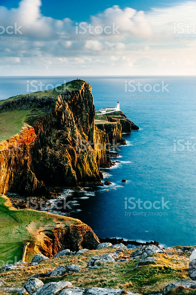 Neist Point lighthouse, Skye, Scotland stock photo