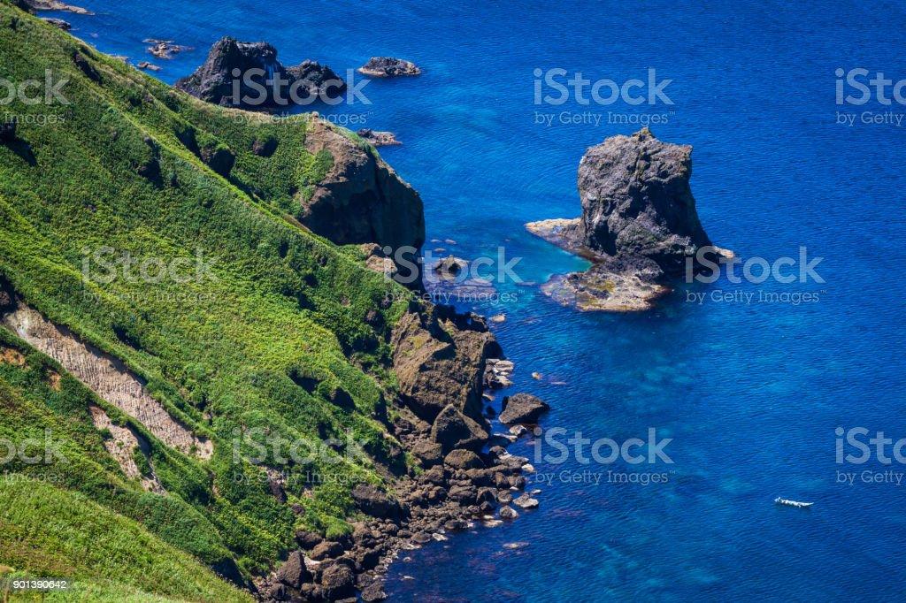 Nekoiwa, Rebun Island, Japan stock photo