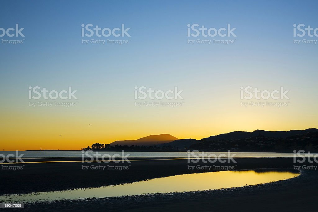 Nelson Bay New Zealand stock photo