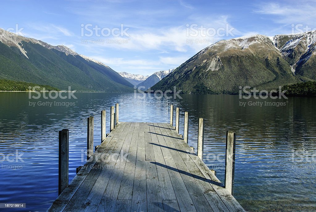 Nelson Lakes National Park New Zealand stock photo